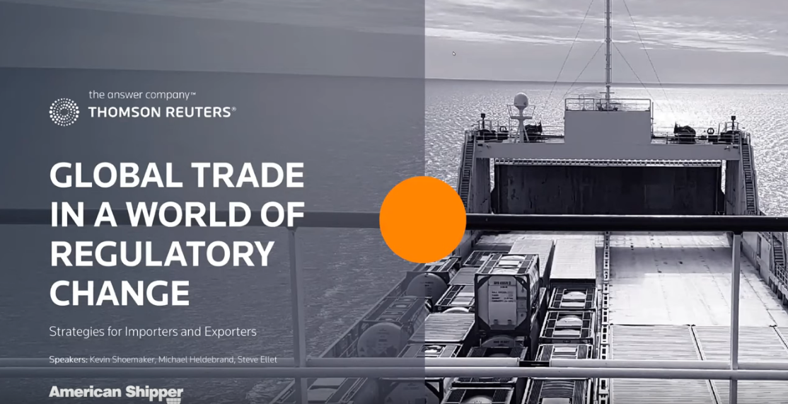 Webinar: Global Trade in a World of Regulatory Change