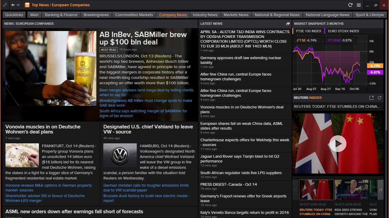 View the News stories that are moving markets and access expert commentary